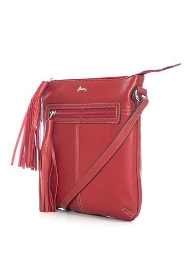 Matraş Hakiki Deri Çanta Kırmızı